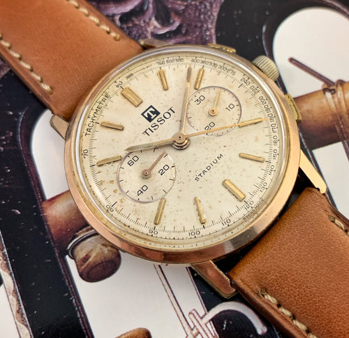 PATINA KING~EARLY 60s TISSOT STADIUM LEMANIA 871