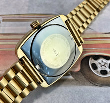 MACHO~70s BUCHERER FUME DIAL GOLD AUTOMATIC~ORIGINAL BRACELET