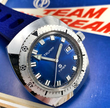 ELECTRIC BLUE~70s TRUMPF SOCCER TIMER DIVER