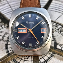 COOL~1974 BULOVA CANDY BLUE AUTOMATIC DAY/DATE