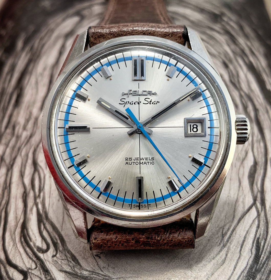 GROOVY~1970 FELCA SPACE-STAR SUPER-COMPRESSOR AUTOMATIC