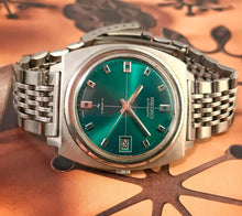 DASHING~1974 SEIKO 7005-7001 GENT'S GREEN DIAL'D AUTOMATIC