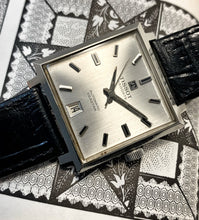 HANDSOME~SQUARE LATE 60s TISSOT VISODATE AUTO~SERVICED