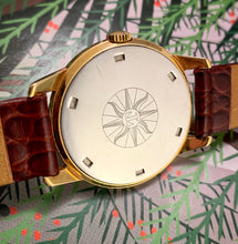 MINTY~LATE 60s TISSOT GOLD SEASTAR VISODATE 17J DRESS WATCH
