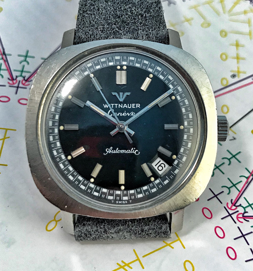 FAR-OUT~EARLY 70s LONGINES-WITTNAUER RACING AUTOMATIC