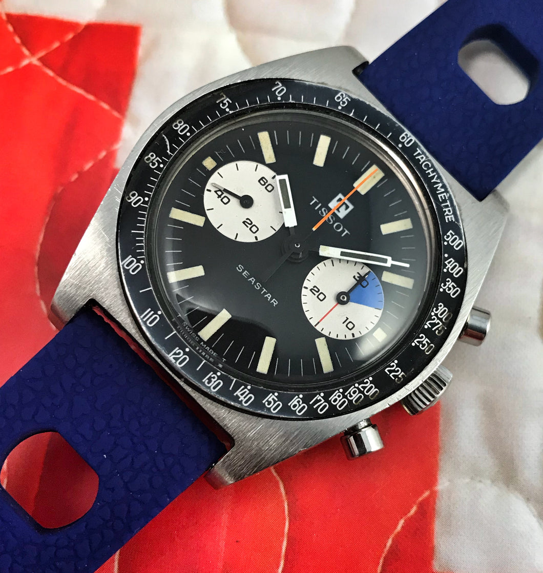 RIGHTEOUS~1969 TISSOT SEASTAR LEMANIA 1277 CHRONOGORAPH