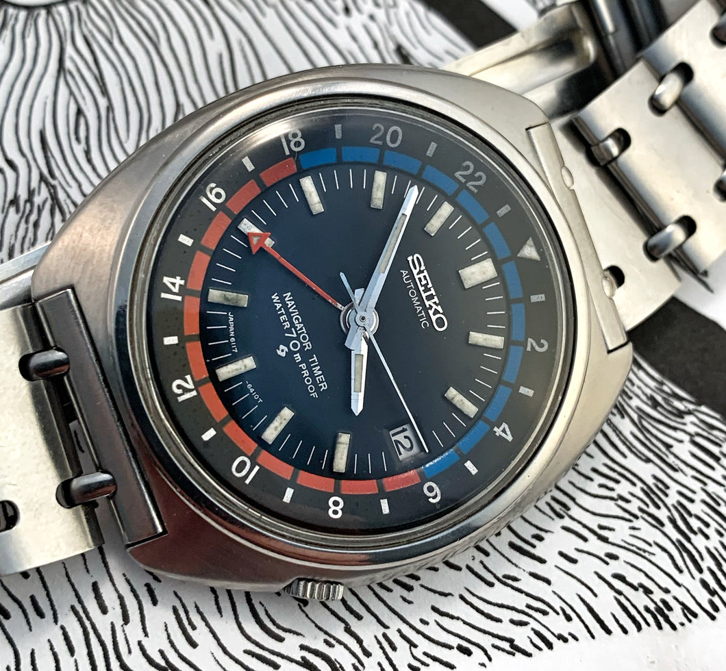 SPORTY~DEC 1969 SEIKO NAVIGATOR 6117-6410 GMT