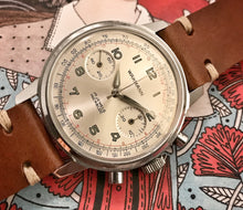 60s LARGE CASE WAKMANN VALJOUX 7730 FIELD CHRONO~SERVICED
