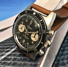 NEAR MINT~EARLY 70s CLEBAR 7733 SKIN-DIVER CHRONO