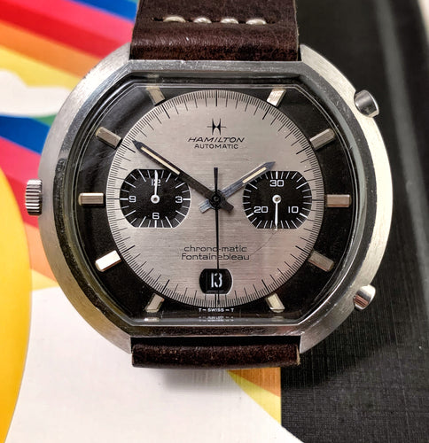 GNARLY~EARLY 70s HAMILTON FONTAINEBLEAU CAL. 11 CHRONOMATIC