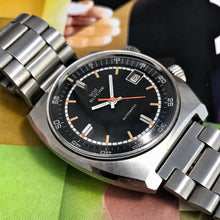 NEAR MINT~LATE 60s GLYCINE AUTOMATIC SUPERCOMPRESSOR DIVER