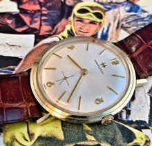 SOLID 14K GOLD~60s HAMILTON COCKTAIL WATCH~ORIGINAL STRAP/BUCKLE