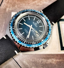 BADASS~70s GRADIENT BLUE RINGO WORLD-TIMER DIVER