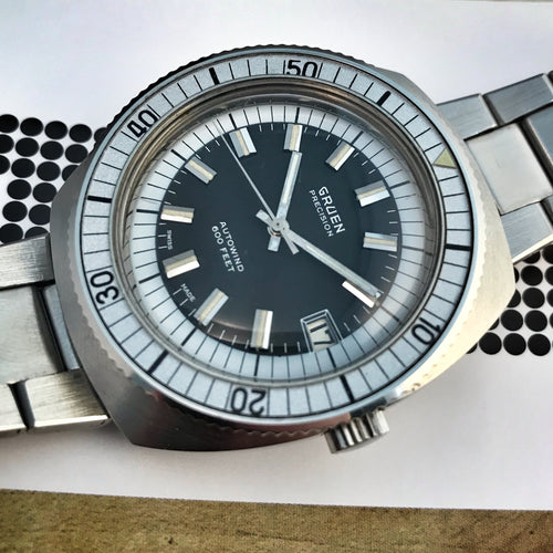 MINTY~LATE 60s GRUEN PRECISION AUTOWIND 600 WITH ORIGINAL BRACELET