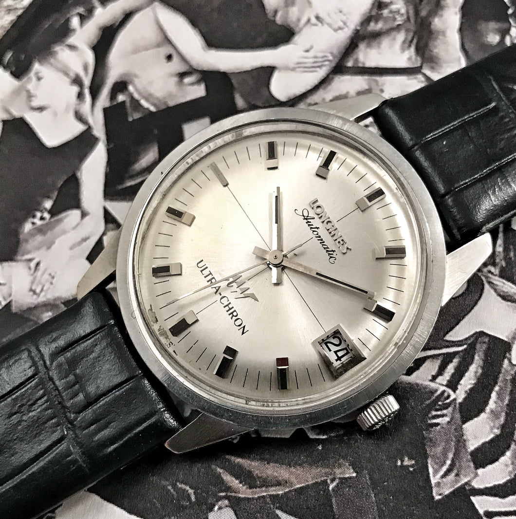 GROOVY~LATE 60s LONGINES HI-BEAT ULTRA-CHRON AUTOMATIC