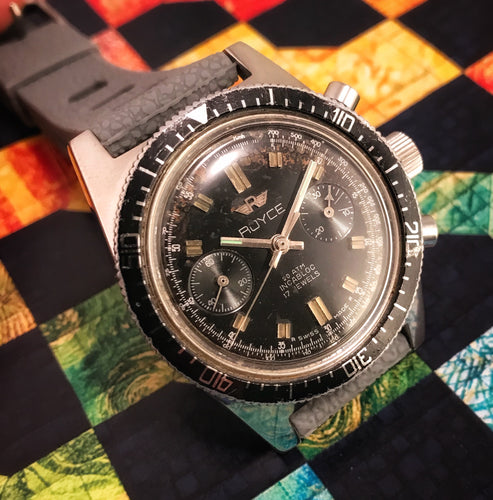 TROPICAL~1960s ROYCE SKIN-DIVER 20ATM DIVE CHRONOGRAPH