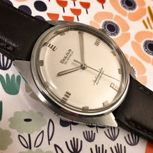 NEAR MINT~LARGE '65 BULOVA AMBASSADOR MICRO-ROTOR~SERVICED WITH BOX