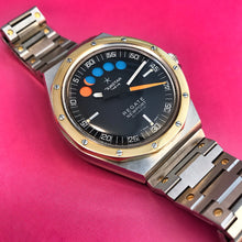 NEAR NOS~80s 2-TONE AQUASTAR NEWPORT REGATE CHRONOGRAPH