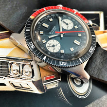 DREAMY~MINTY 1971 BULOVA 666 DEEP SEA COKE CHRONO DIVER