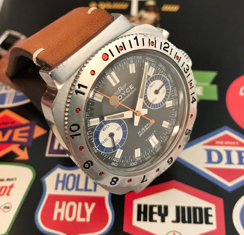 PSYCHEDLIC~LATE 60s ROYCE 7733 DIVE CHRONOGRAPH