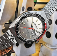 NEAR MINT~1978 BULOVA/CARAVELLE 666 SILVER DIAL DIVER.