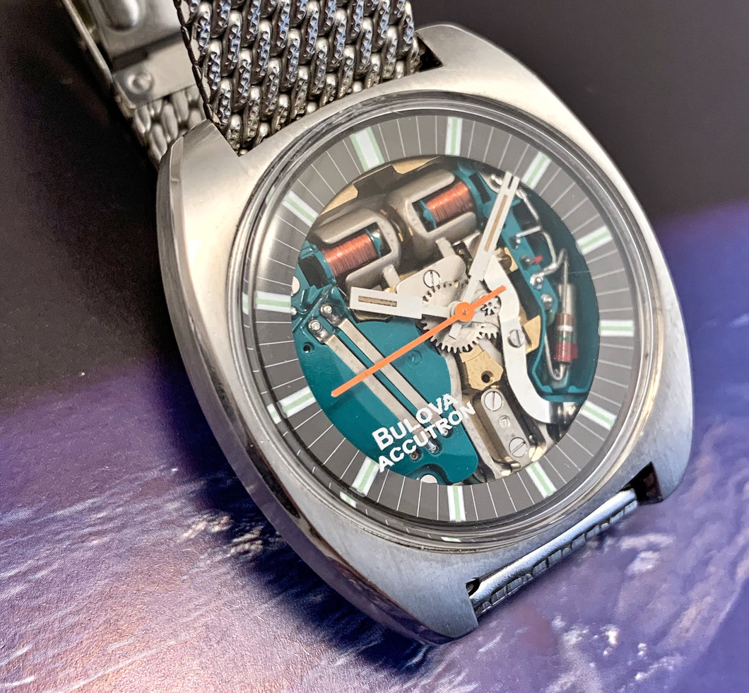 GUTSY~1970 ACCUTRON SPACEVIEW IN MINT CONDITION~SERVICED