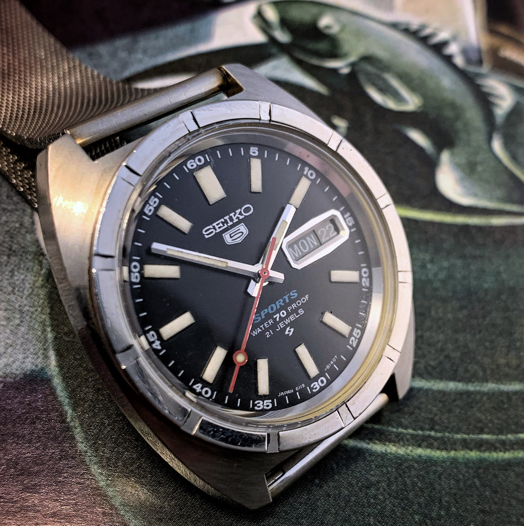SHARP~FEB 1968 SEIKO 5 6119-8040 PROOF AUTOMATIC