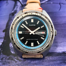 BURLY~70s CLINTON 200M WORLD-TIMER AUTOMATIC DIVER