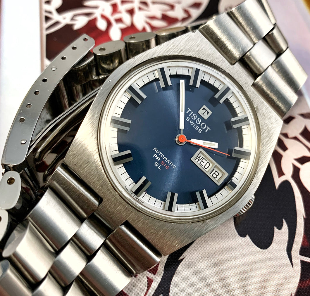 RADICAL~NEAR MINT 70s TISSOT PR-516 GL AUTOMATIC