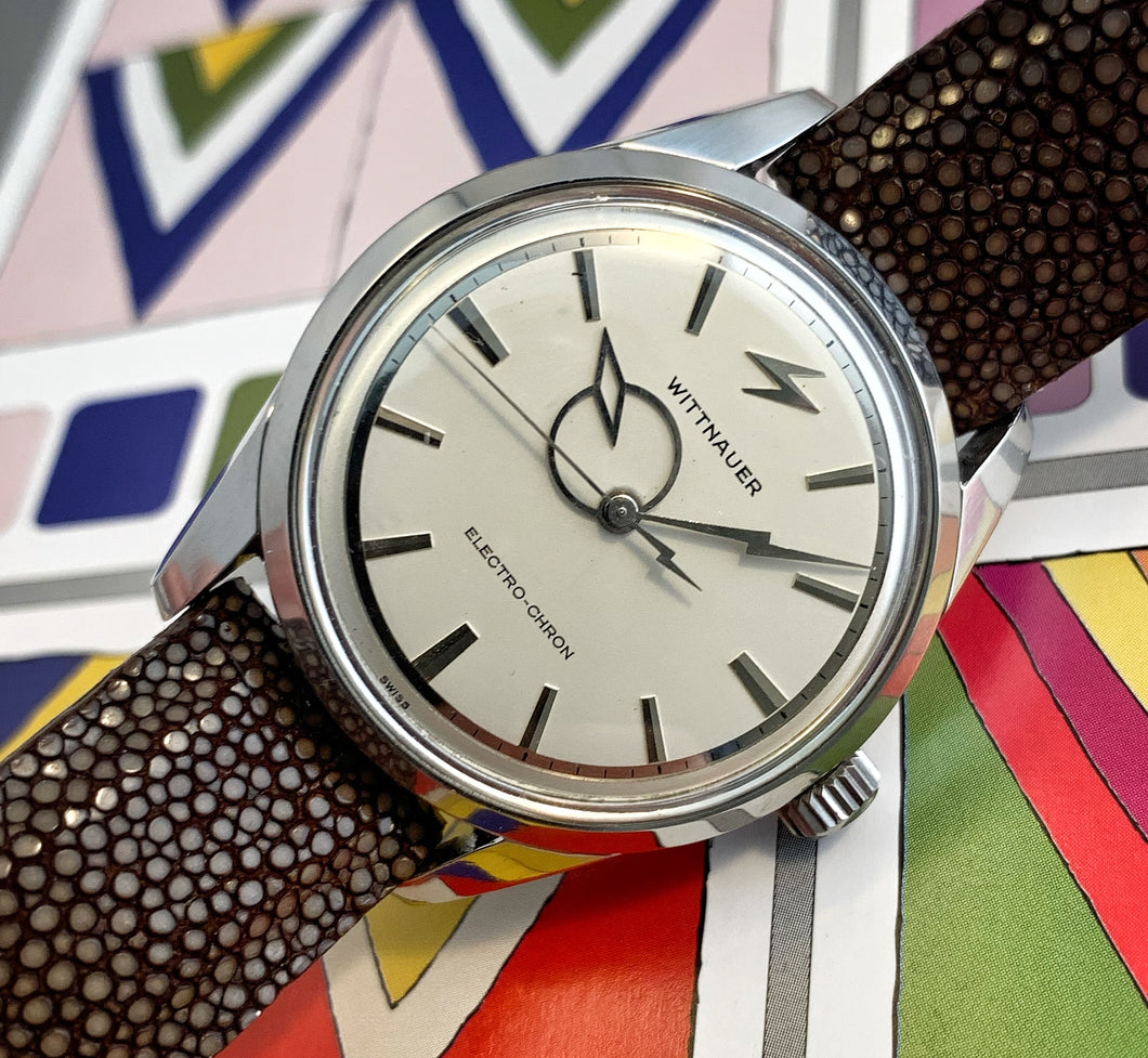 RARE~EARLY 60s WITTNAUER ELECTRO-CHRON GENT'S WATCH