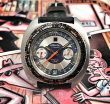 70s ATLANTIC TIMEROY WORLDTIMER CHRONO