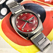 COOL~70s AQUASTAR/DUWARD 100M CANDY RED DIVE WATCH