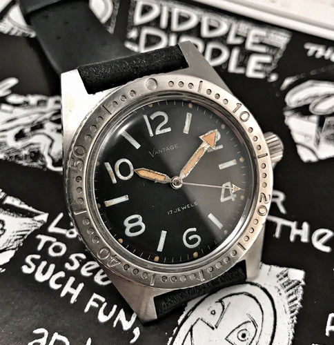 TRIPPY~LATE 60s VANTAGE BY HAMILTON 20ATM SKIN-DIVER~SERVICED