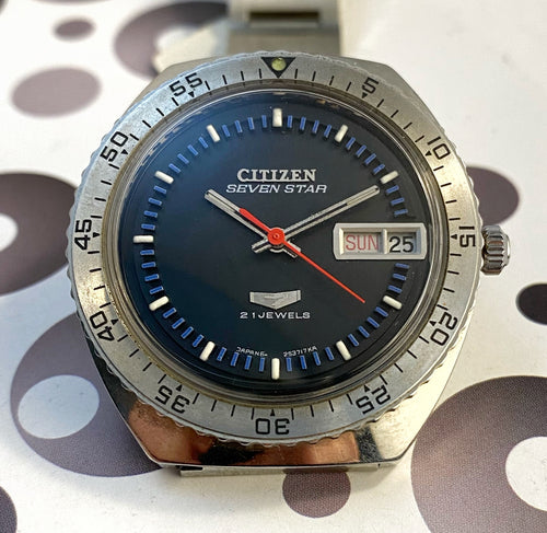 CLEAN~NEAR MINT 1969 CITIZEN SEVEN STAR DIVER