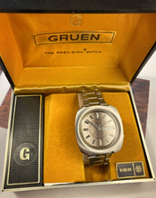 FUZZTASTIC~70s GRUEN FUME DIAL AUTOMATIC ALARM DAY/DATE~WITH BOX