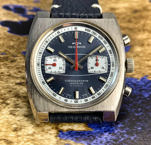 FAR OUT~70s TECHNOS SURFBOARD CHRONO