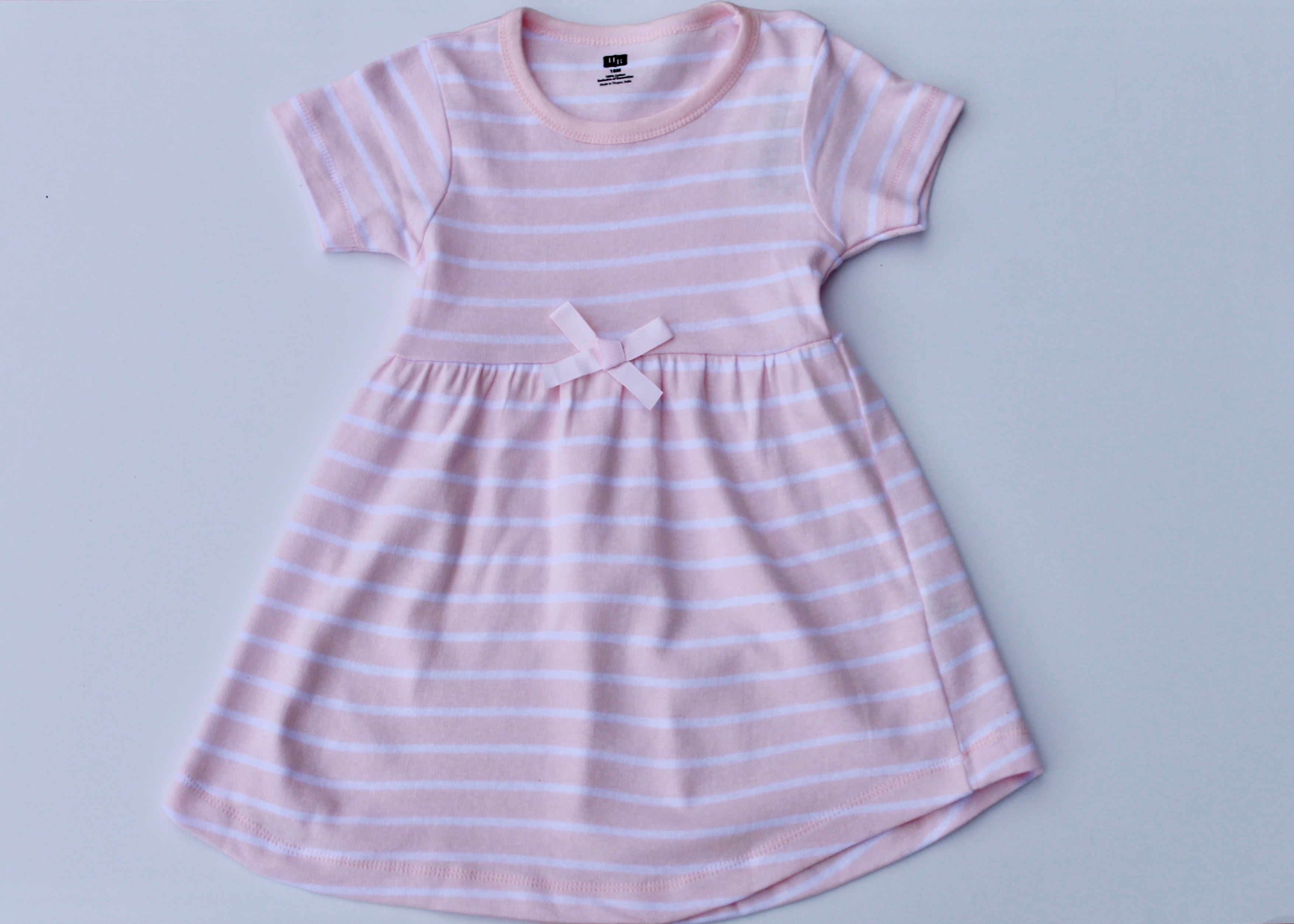 Light Pink with White Stripe Dress