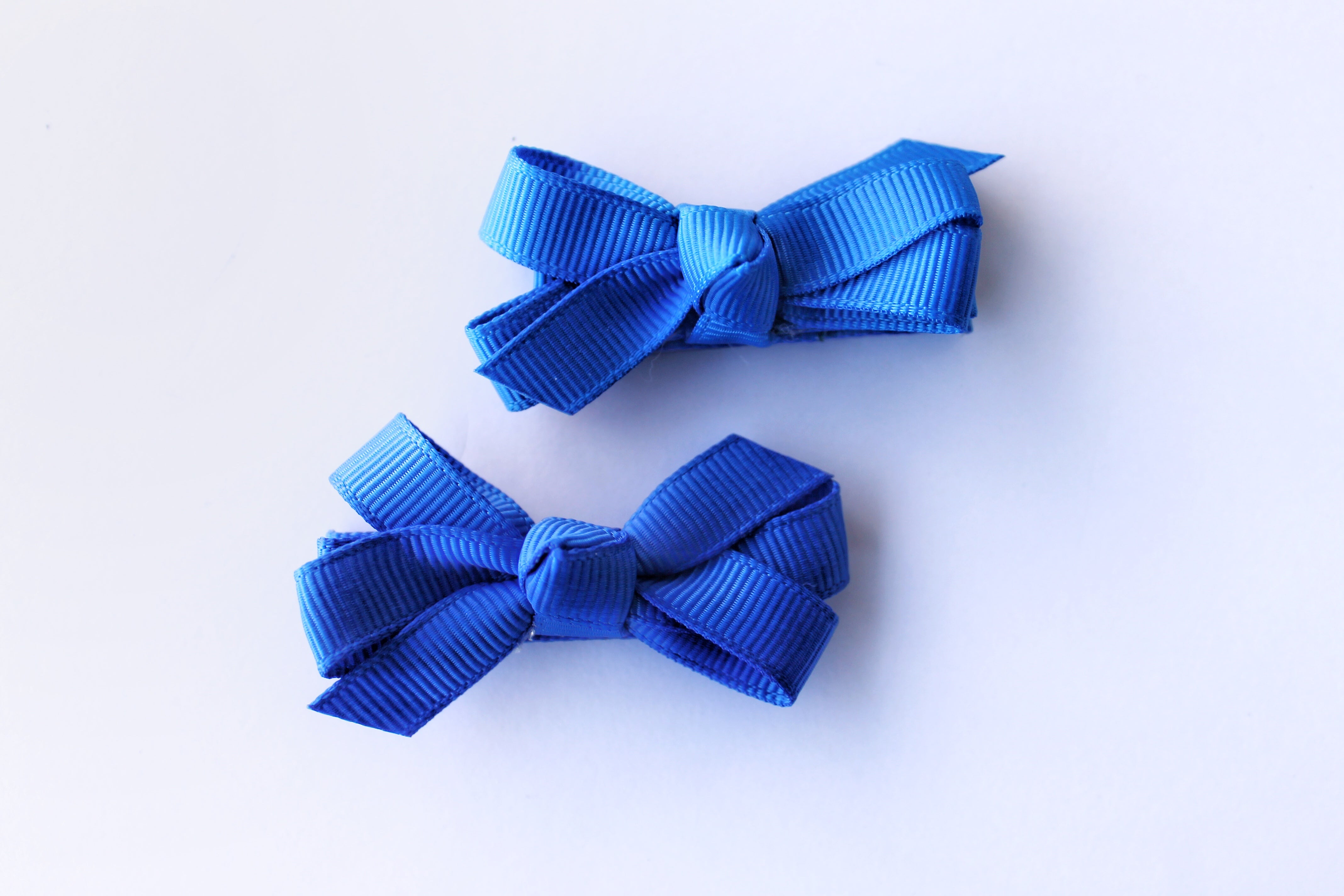 2 Pack of Small Bows - Cobalt Blue