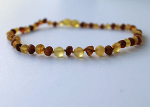 Raw Mixed Honey Amber Necklace