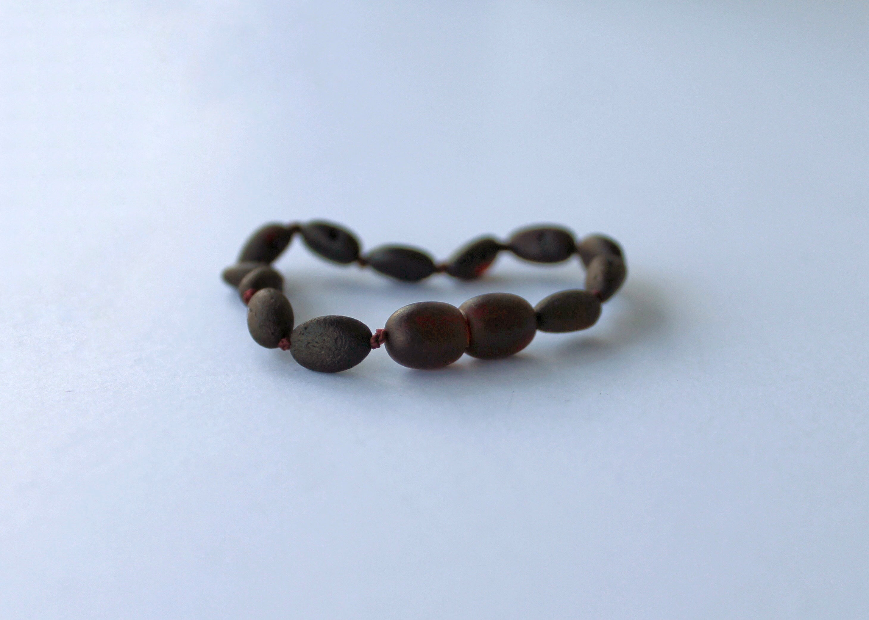 Raw Dark Honey Amber Bracelet