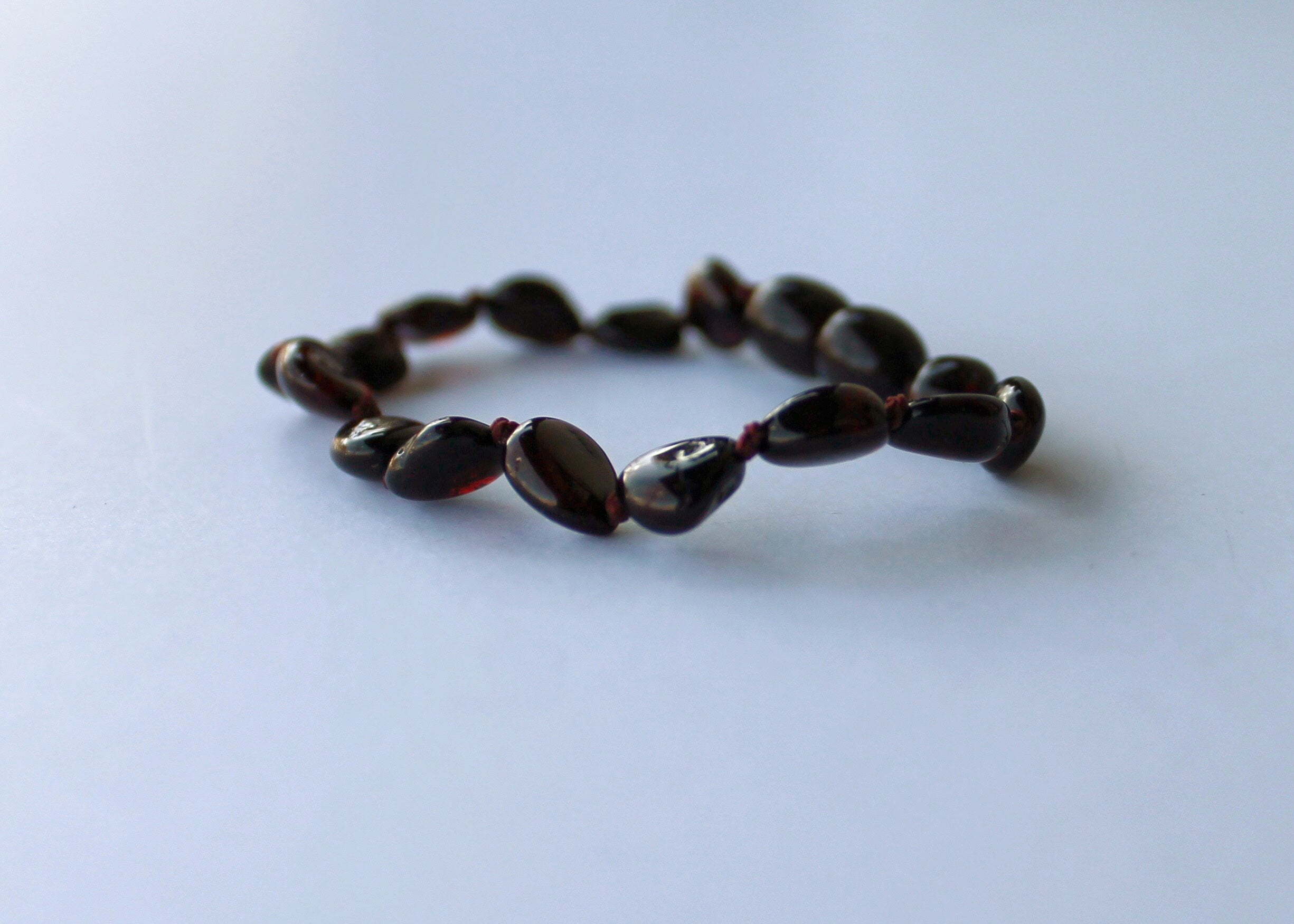 Polished Dark Honey Amber Bracelet