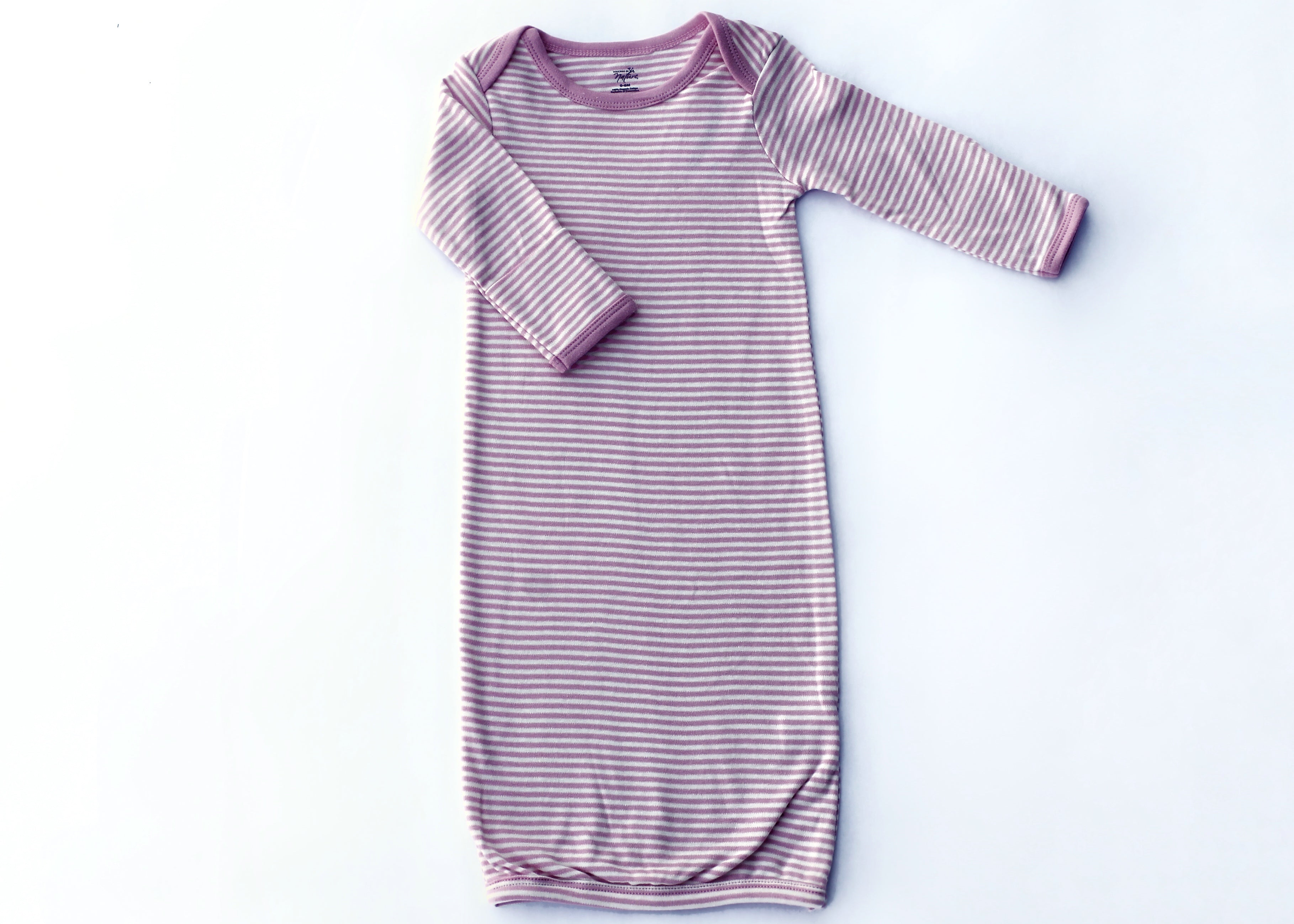 Thin Pink Stripe Elastic Bottom Nightgown