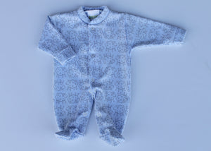 Preemie Blue Sheep One Piece