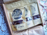Awesome Jerky Gift Box, Gifts for men, fathers day gift (3 Bags of Jerky)