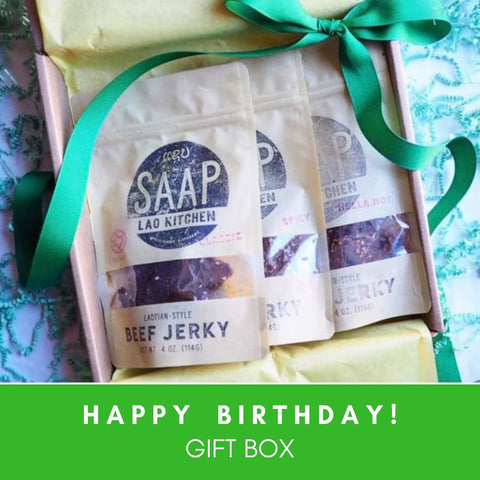 Happy Birthday Gift Box (3 Bags of Jerky)
