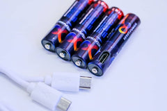 Micro USB Rechargeable AA Battery (4 PACK)