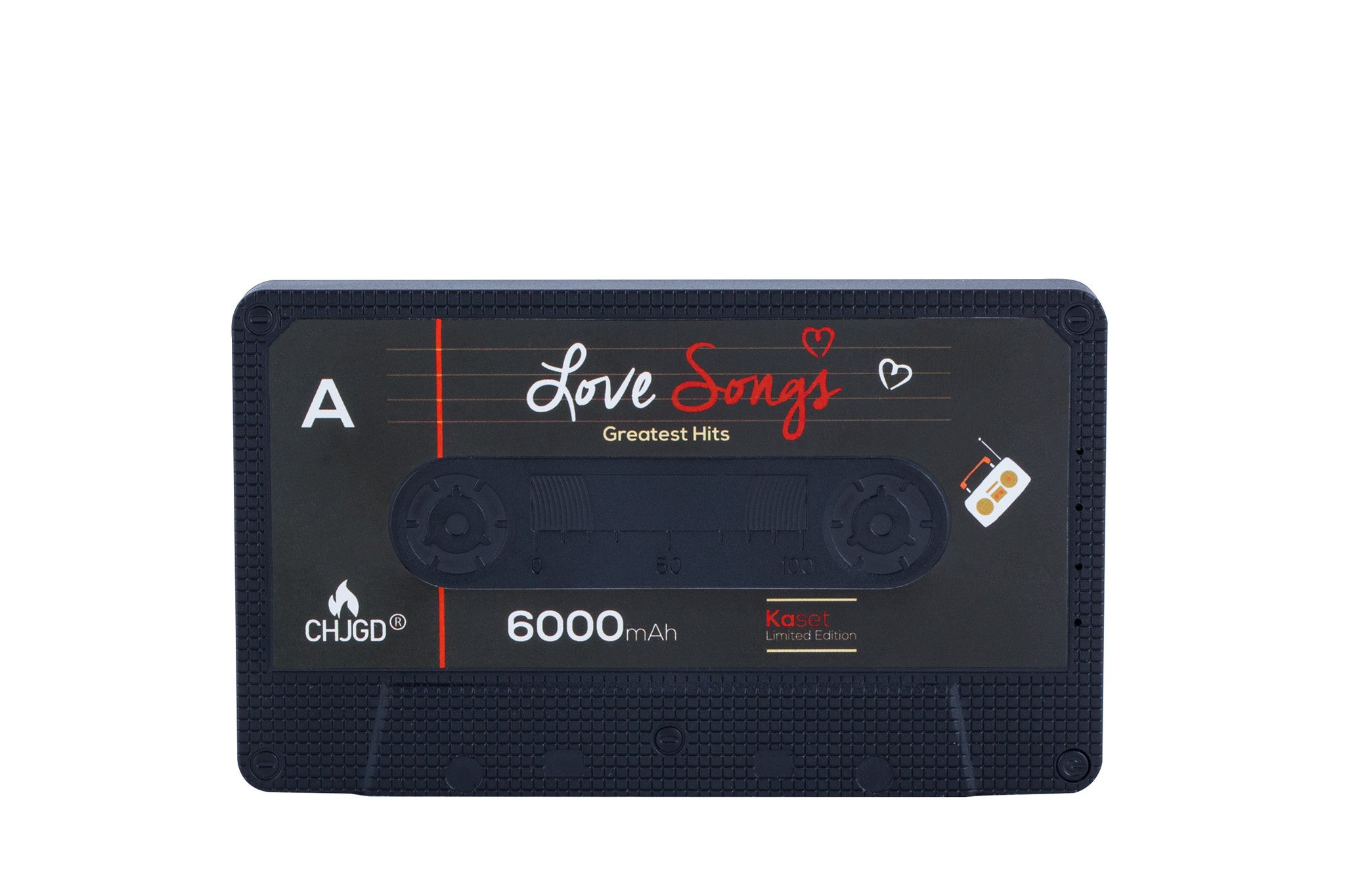 CHJGD® Kaset 6,000 mAh Powerbank - Love Songs