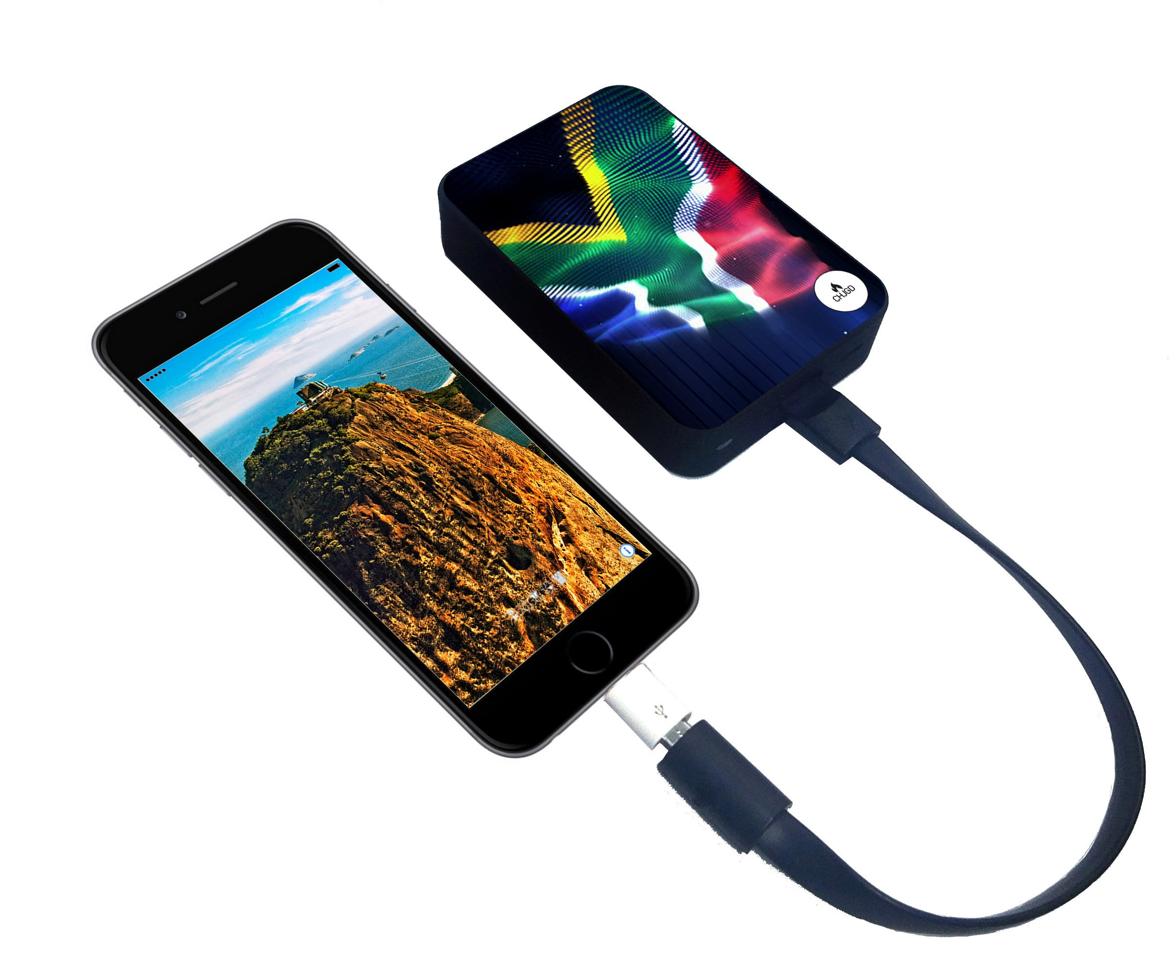 CHJGD® UltraCompact Mini 5000 mAh Power Bank (South African Flag)