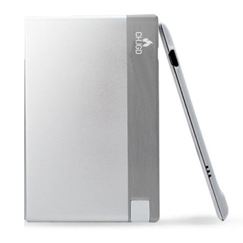 CHJGD® Power 1500 mAh Super Slim Credit Card Size Power Bank (Silver)