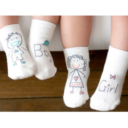1Pair Girl Boy Baby Infant Kids Foot Sock Soft Non-slip Boot Cuff Slippers Socks - ZLIFEA